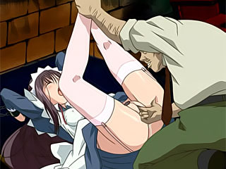 Sexy Mai in skirt strips to show herself and got hot spermshots sprayed
