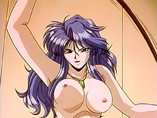 First time lesbian Hentai miss with thick dildo fucked between the twins by Naraku's towering dick