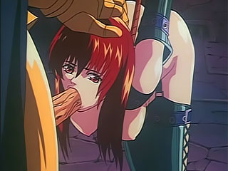 Boobie Anime Bitch gets drilled hard by enormous dick and soaked in cum