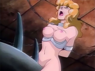 Double d milkers bounce as kinky Hentai Blonde gets asspumped
