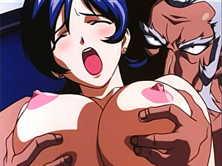 Shizuka Kawai with convered eyes sucking off Android 17's wang